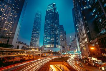 Fotomurales - Hong Kong central at night time