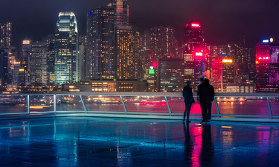 Fotobehang - Hong Kong Victoria Harbor Landscape
