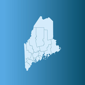 vector illustration map of Maine