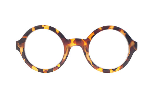 Vintage glasses isolated on white background. Clipping path included.