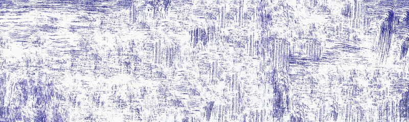 Wide abstract texture. Grungy purple ink pattern of chaotic paint spots and scratches. Shabby grunge background