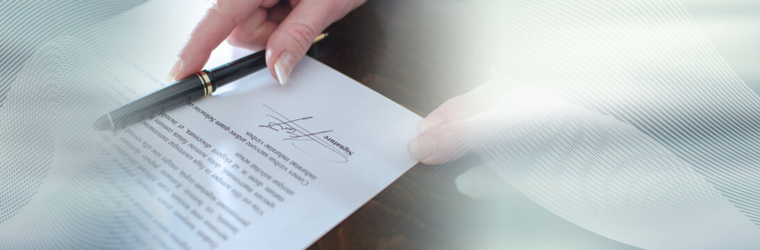 Contract signed; panoramic banner