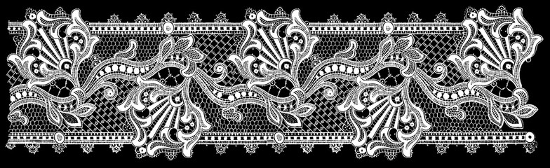 Black and white lace, border flowers, fashion style, decoration element, pattern for every backdrop.