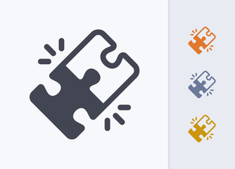 Locked Puzzle Pieces - Pastel Stencyl Icons