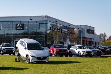 Mazda dealer Kodecar in Ostrava, Czech Republic showing its newest model, CX-5 SUV