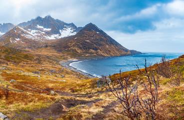 landscape view of Senja Island near Mefjordvaer