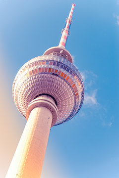 The TV tower in Berlin capital Germany