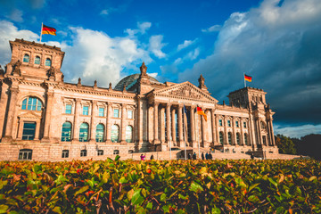 Printed roller blinds Berlin The Reichstag building in Berlin capital Germany