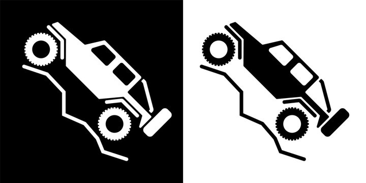 Off Road 4wd Recreational Vehicle Logo Isolated Vector Illustration