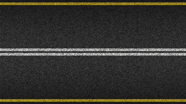 Asphalt highway textured vector background. Paved road with a dividing stripes