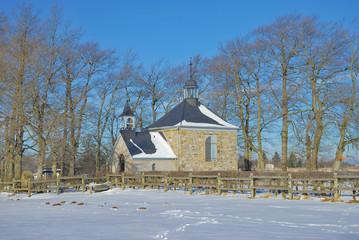 die Kapelle Fischbach neben Baraque Michel im Hohen Venn,Belgien