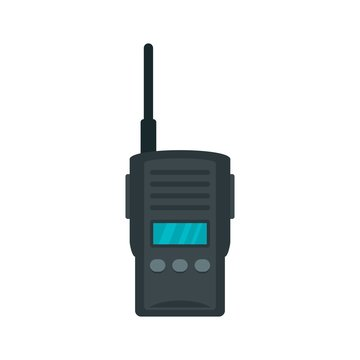 Walkie talkie icon. Flat illustration of walkie talkie vector icon for web design