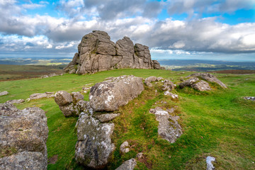 Haytor rocks granite outcrop Dartmoor