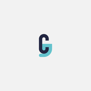 Letter CJ Logo, Simple Design Initial Cj.