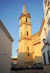 Church of St Anthony Abbot (San Antonio Abad) in Trigueros a town in the province of Huelva Andalusia Spain