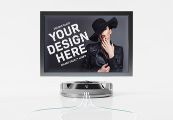 Futuristic Screen Display Mockup