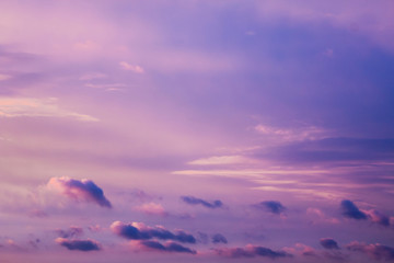 Incredible beautiful cloud formations and colors in the sky, sunset.