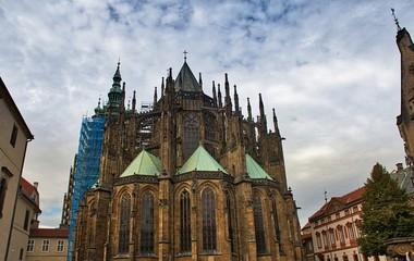 Prague Castle is a castle complex in Prague, Czech Republic, built in the 9th century. Inside the castle.