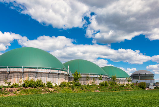 Biogas plant in rural Germany Biofuel Industry concept