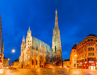 Fotorolgordijn Wenen Vienna, Austria, Europe: St. Stephen's Cathedral or Stephansdom, Stephansplatz
