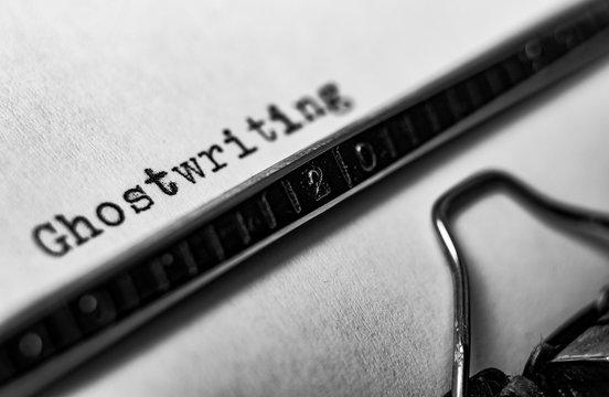 ghostwriting typewriter