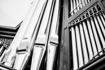 Grayscale church organ