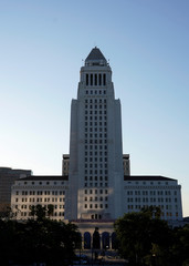 Los Angeles City Hall is shown in downtown Los Angeles