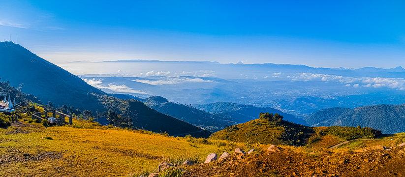 paisaje natural e panoramica de valle y montañas, mirador dieguez todos santos cuchumatanes