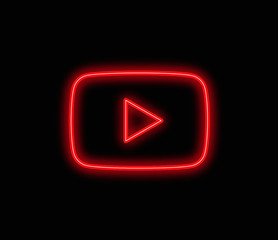 youtube neon vector background editorial app