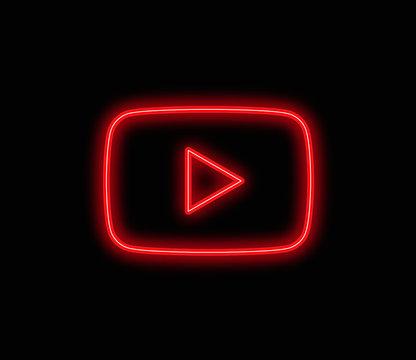 youtube neon vector background editorial app