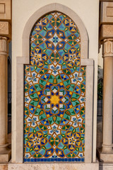Beautiful Moroccan ceramic tiles creating a wall image