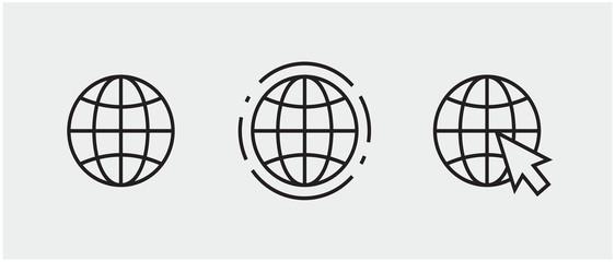 Obraz www, internet connection icons. vector illustration, logo web template. - fototapety do salonu