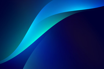 Blue curve abstract background, copy space composition.
