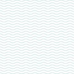 Wall Mural - Blue wave pattern