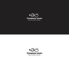 simple tone music logo on white and black background