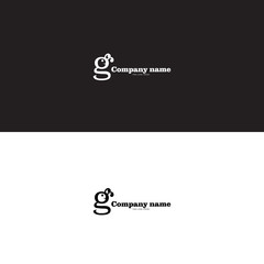 initial g and caterpillar logo on black and white background