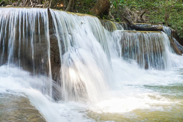 Recess Fitting Waterfalls waterfall in rainforest at National Park, Thailand.