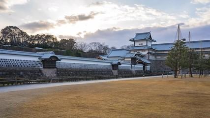 Wall Mural - Timelapse of Kanazawa Castle time lapse in Kanazawa, Japan