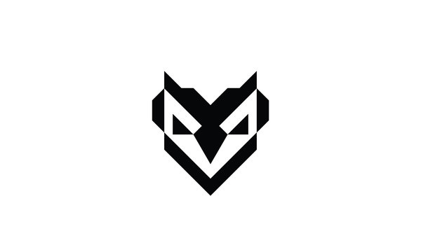 abstract owl logo design