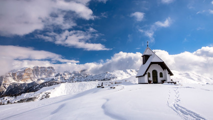 Little chapel on the top of the mountain