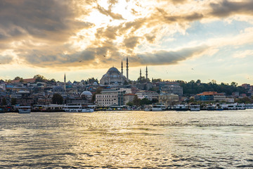 Wall Mural - Panorama view of Galata Tower and Istanbul city skyline in Istanbul city, Turkey