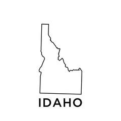 Idaho map vector design template