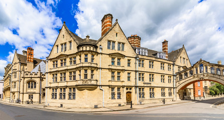 Hertford college with it's bridge known as the Bridge of Sighs,