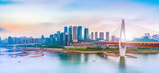 Chongqing modern architecture landscape skyline