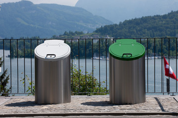trash system with underground disposal. Trash and waste separation