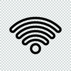 line wifi signal icon isolated on transparent background