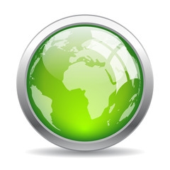 Earth glass web button