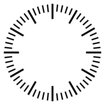 Stop watch dial face template