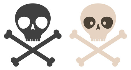 Vector set icons of skull.
