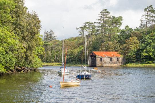Old Boathouse in Westport, Ireland